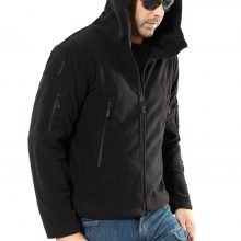 Tactical Zipper Pocket Sharkskin Soft Shell Warm Fleece Hoodies Army Jacket Men