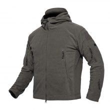 Tactical Zipper Pocket Sharkskin Soft Shell Warm Thelmal Fleece Hoodies Army Jacket Men