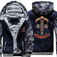 Hoodies High Quality Winter Thicken Fleece Zipper Male Army Camouflage Sweatshirt