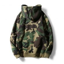 Army Green Camouflage Camo Fleece Pullover Fashion Hip Hop Streetwear Casual Hoodie