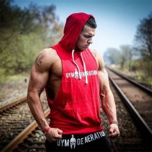 Autumn Men Sweatshirt Fashion  Military Tracksuit Casual Pullover Male Sleeveless hoodie