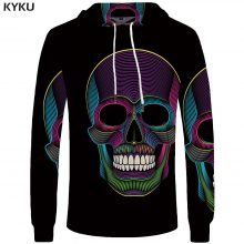 Skull Hoodie Men Black Military Hoodies Anime Clothes Punk Rock Metal 3d Print Sweatshirt Casual
