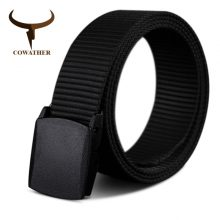 COWATHER 110 130 150 170cm long big size new nylon material mens belt military outdoor male jeans tactical belts for men luxury