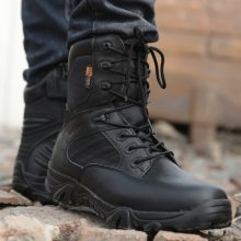 Winter Autumn Men Military  Quality Special Force Tactical Desert Combat Ankle Army Work Shoes Leather Snow Boots