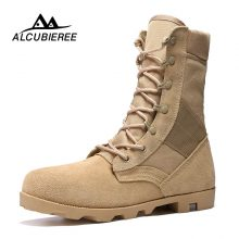 Men Military Desert Combat Army High Top Ankle Winter Snow Boots