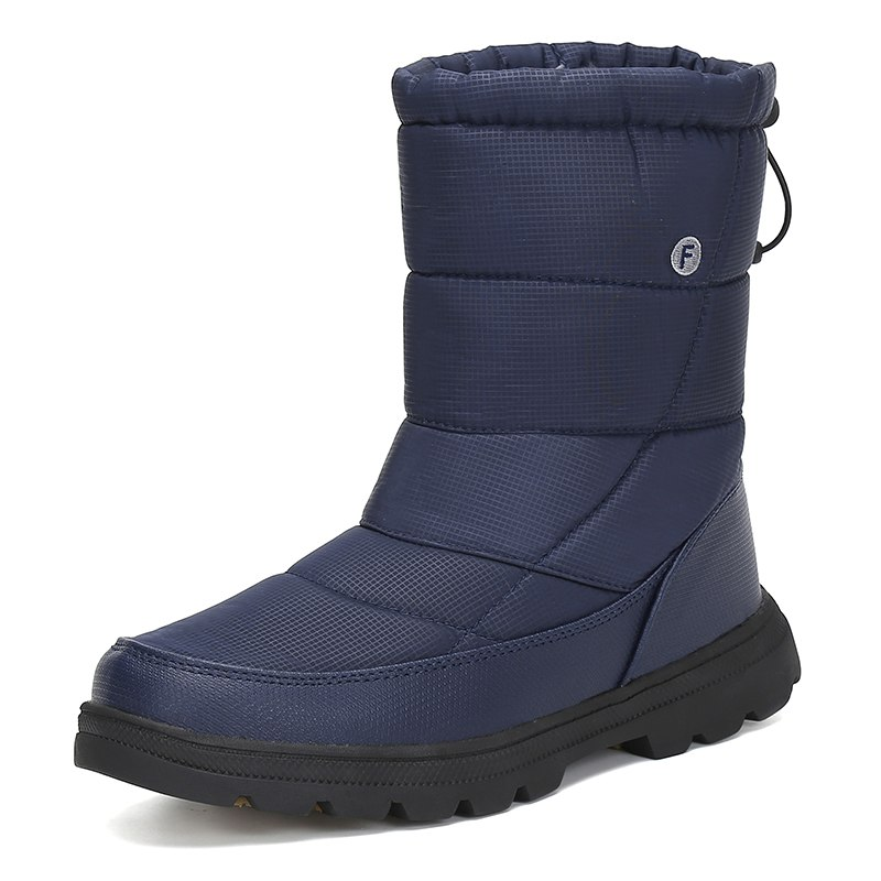 Winter Snow Boots Men Flat Safety Shoes