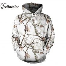 Feelincolor Camouflage Hoodies Men 3D Printed Streetwear Pullover Camouflaged Hoodie Unisex Long Sleeve Sweatshirt  Hoodied