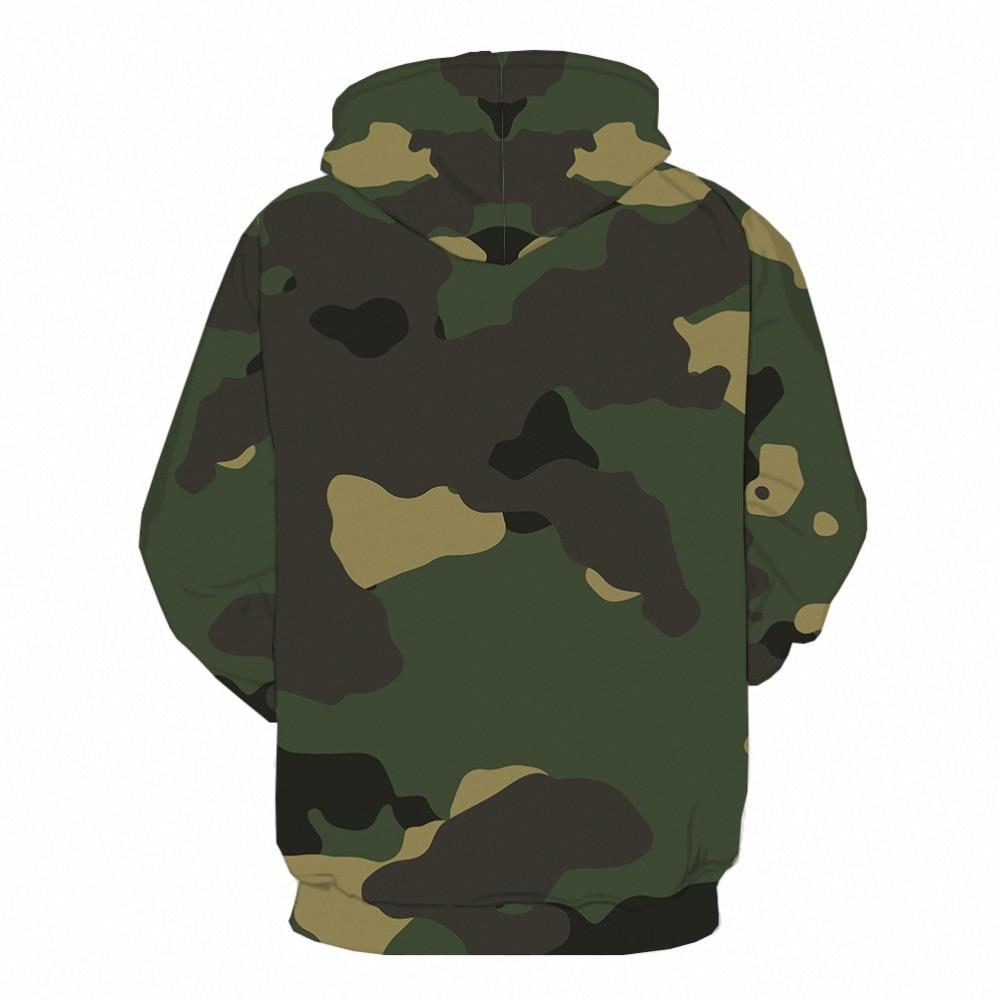 ZHONGHENJIUDIAN Army Camo Camouflage US Army Retired Mens 3D Print Pullover Hoodie Sweatshirt
